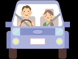 シートベルトを締めて運転